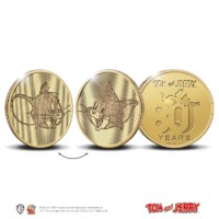 80 Years of Tom and Jerry Multiview Medal Gold 1 Ounce