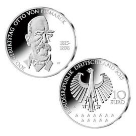 """Duitsland 10 Euro """"Bismarck"""" 2015"""