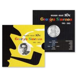 Belgique 10 euros « Simenon » 2003
