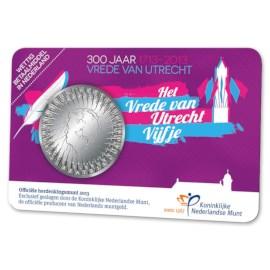 5 Euro 2013 Vrede van Utrecht UNC Coincard