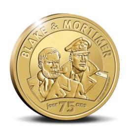 25 euromunt België 2021 '75 jaar Blake en Mortimer' Goud Proof