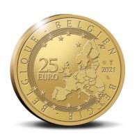 België 25 euromunt 2021 '75 jaar Blake en Mortimer' Goud Proof