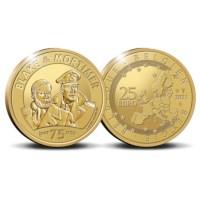Pièce de 25 euros Belgique 2021 « 75 ans de Blake et Mortimer » Belle-épreuve en Or