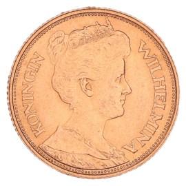 Gouden 5 Gulden Wilhelmina 1912 Pr+