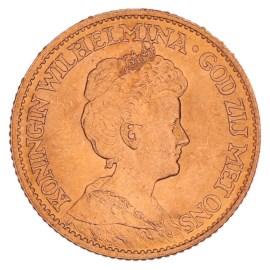 Gouden 10 Gulden Wilhelmina 1911 Pr+