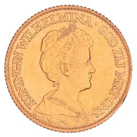 Gouden 10 Gulden Wilhelmina 1913 Pr+