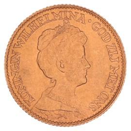 Gouden 10 Gulden Wilhelmina 1917 Pr+