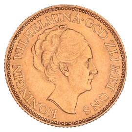 Gouden 10 Gulden Wilhelmina 1925 Pr+