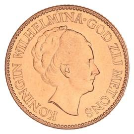 Gouden 10 Gulden Wilhelmina 1927 Pr+