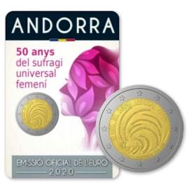 """Andorra 2 Euro """"Vrouwenkiesrecht"""" 2020"""