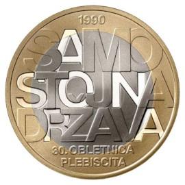 Slovénie 3 euros « Indépendance » 2020