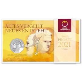 "Austria 5 Euro ""Janus"" 2021 BU"