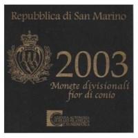 San Marino BU Set 2003 + 5 Euro