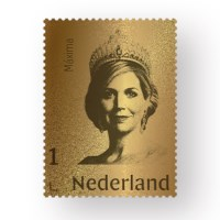 The Netherlands Gold Stamp Queen Máxima