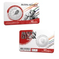 Anton Geesink 5 Euro Coin 2021 UNC-quality in Coincard