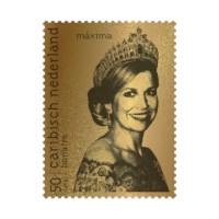 Bonaire Gouden Postzegel Koningin Máxima
