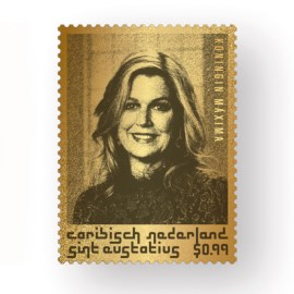 Pure Gold Stamp in honour of Queen Máxima's 50th birthday