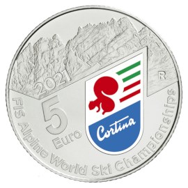 """Italië 5 Euro """"Alpine Ski"""" 2021"""