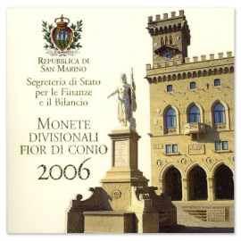 "San Marino BU Set 2006 + 5 Euro ""Delfico"""