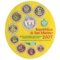 San Marino BU Set 2007 + 5 Euro