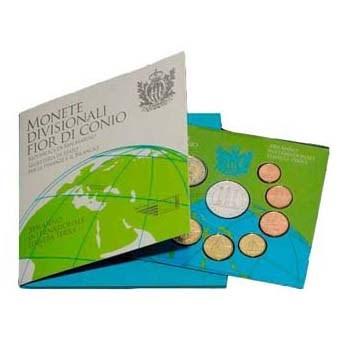 "San Marino BU Set 2008 + 5 Euro ""Planeta Terra"""
