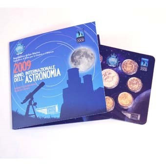 "San Marino BU Set 2009 + 5 Euro ""Astronomie"""