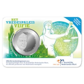5 Euro 2013 Vredespaleis UNC Coincard