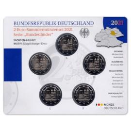 """Duitsland 2 Euro BU-Set """"Saksen-Anhalt"""" 2021"""