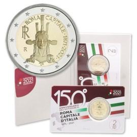 "Italië 2 Euro ""Rome"" 2021 BU Coincard"
