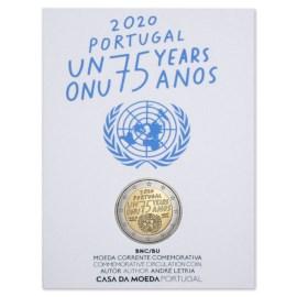 "Portugal 2 Euro ""Verenigde Naties"" 2020 BU"