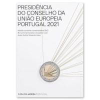 """Portugal 2 Euro """"EU-Voorzitter"""" 2021 BU"""