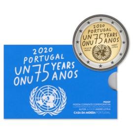 """Portugal 2 Euro """"Verenigde Naties"""" 2020 Proof"""
