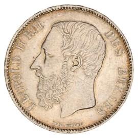 5 Frank 1865-1876 Leopold II ZFr