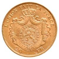 20 Frank Goud Leopold II 1867 Pr-