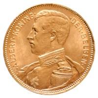 20 Frank Goud Albert I 1914 Pr (Geel Goud)