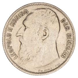1 Frank 1904-1909 NL - Leopold II ZFr