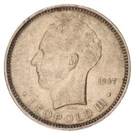 5 Frank 1936-1937 FR - Leopold III ZFr