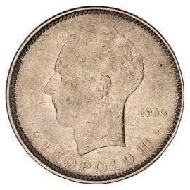5 Frank 1936-1937 NL - Leopold III ZFr