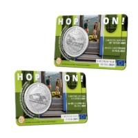 5 euromunt België 2021 'Europees Jaar van het Spoor' BU multiview in coincard