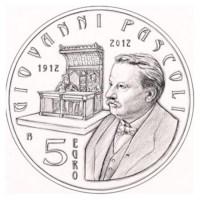 "San Marino BU Set 2012 + 5 Euro ""Pascoli"""