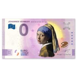 0 Euro Biljet Meisje met Parel - Kleur