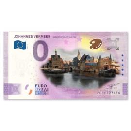 0 Euro Biljet Gezicht op Delft - Kleur