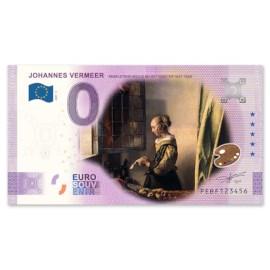 """0 Euro Biljet """"Brieflezende Vrouw"""" - Kleur"""