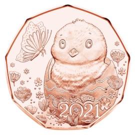 Autriche 5 euros « Pâques » 2021 UNC