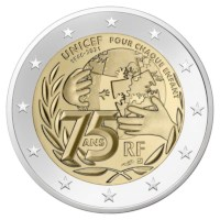 "Frankrijk 2 Euro ""Unicef"" 2021"