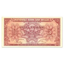 5 Francs - 1 Belga 1943 TTB
