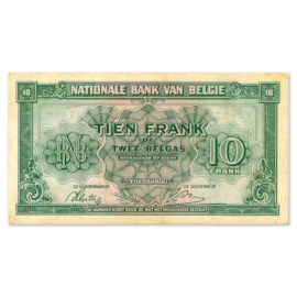 10 Francs - 2 Belgas 1943 TTB