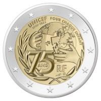 "Frankrijk 2 Euro ""Unicef"" 2021 Proof"