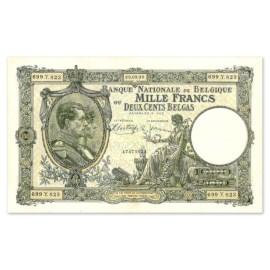1000 Francs - 200 Belgas 1928-1939 TTB