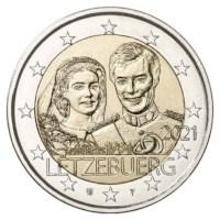 """Luxemburg 2 Euro """"Huwelijk"""" 2021 (reliëf-versie)"""